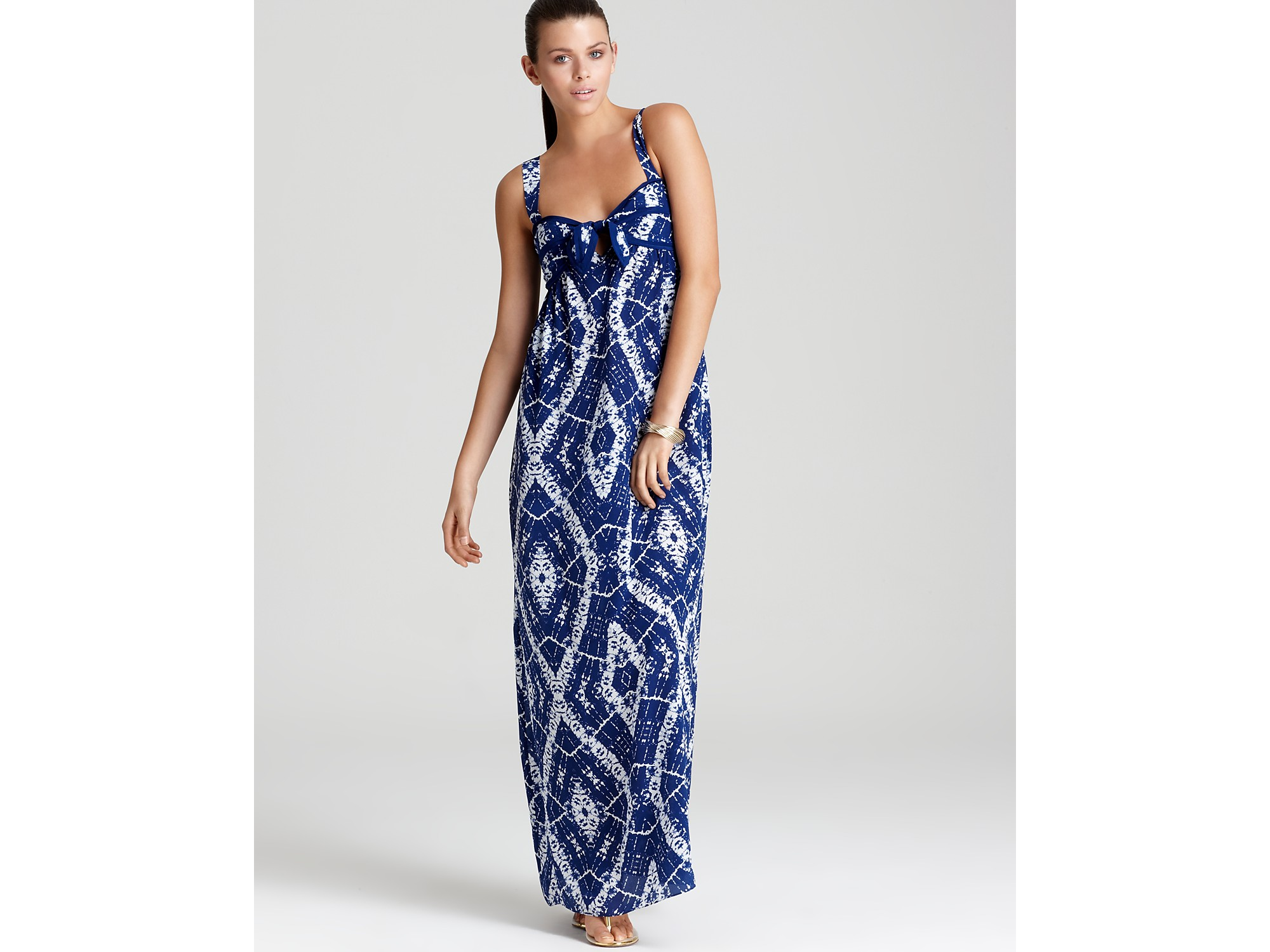 Becca Rebecca Taylor Dress Batik Cami Maxi Dress in Blue  Lyst