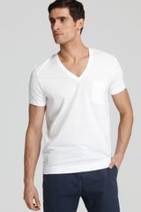 Calvin Klein V Neck Undershirt Tee in White for Men (black) - Lyst