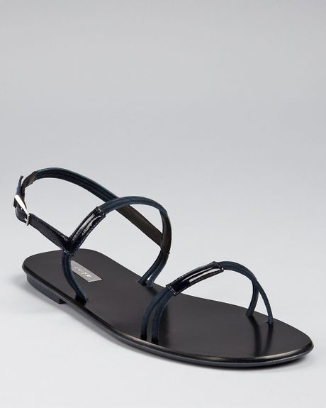 Calvin Klein Collection Sandals Lina Flat In Blue
