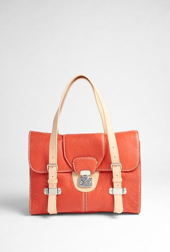 Carven Leather Contrast Shoulder Bag - Lyst