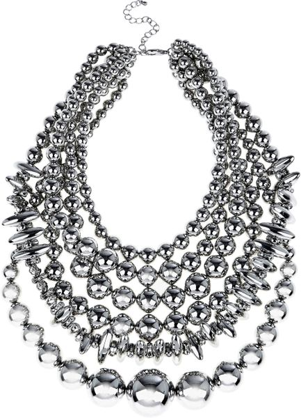 Coast Marion Necklace in Gray (silver) - Lyst