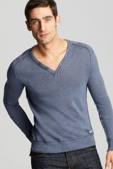 Converse Black Canvas Henley Sweater in Blue for Men (blue blush) - Lyst