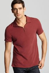 Converse Black Canvas Short Sleeve Button Polo in Red for Men (port) - Lyst