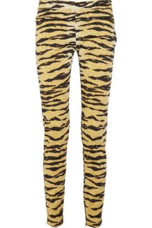D&G Printed Stretch Cottonblend Twill Pants - Lyst