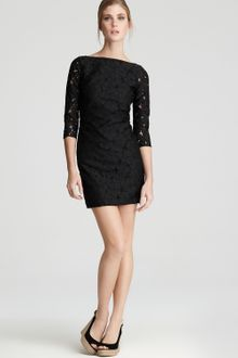 Diane Von Furstenberg Dress Sarita Flower Lace - Lyst