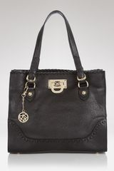 Dkny Heritage Whipstitch Work Shopper Tote  in Beige (black) - Lyst