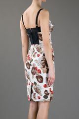 Dolce & Gabbana Printed Dress in Brown - Lyst