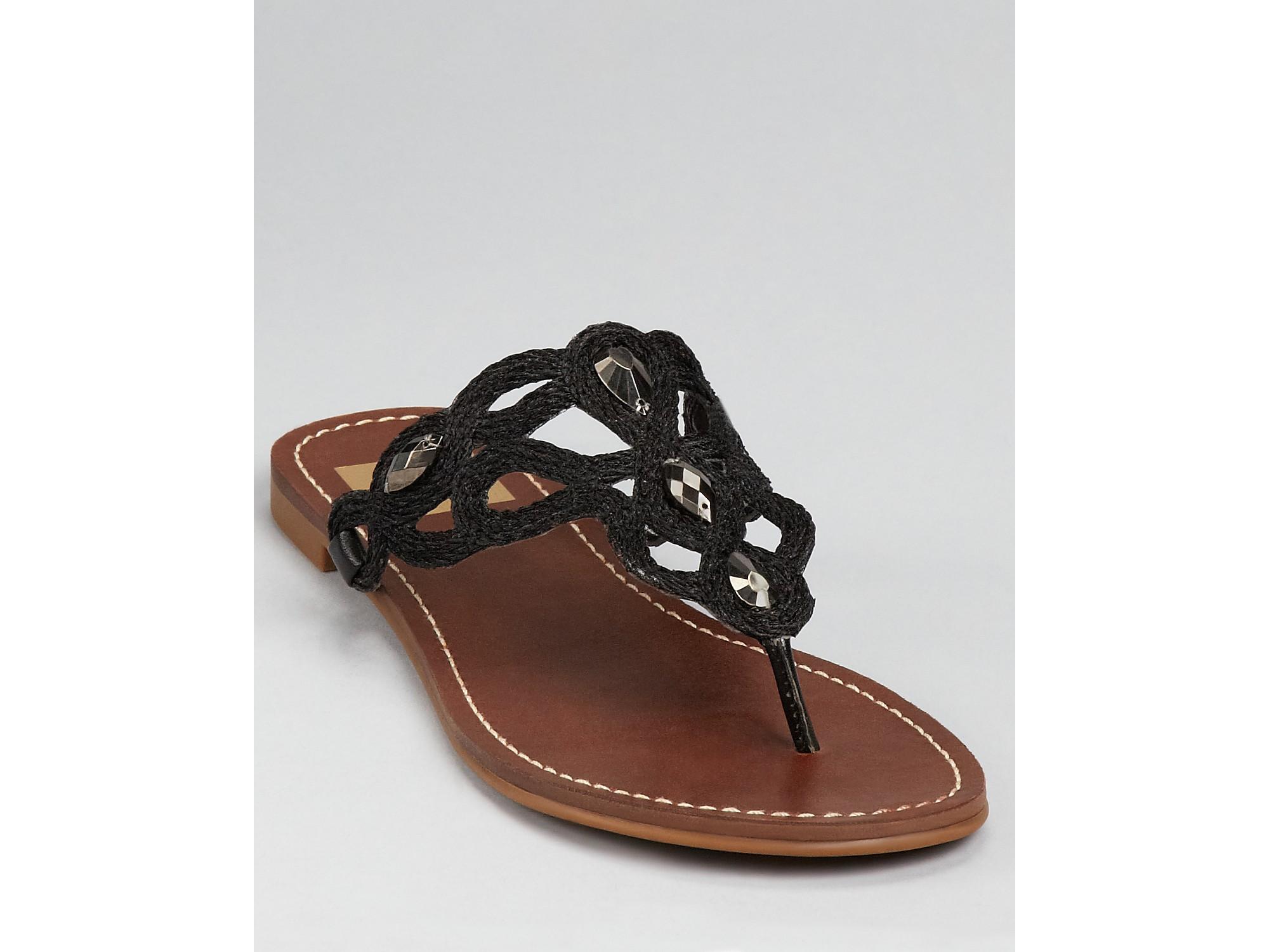 ff15501a0 Lyst - Dolce Vita Dv Sandals Sabra Thong in Black