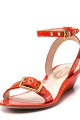 Elie Tahari Sandals Maddie Demi Wedge - Lyst