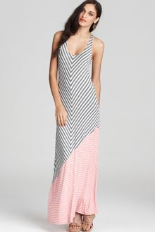 Ella Moss Dress Wren Multi Striped Maxi Dress - Lyst