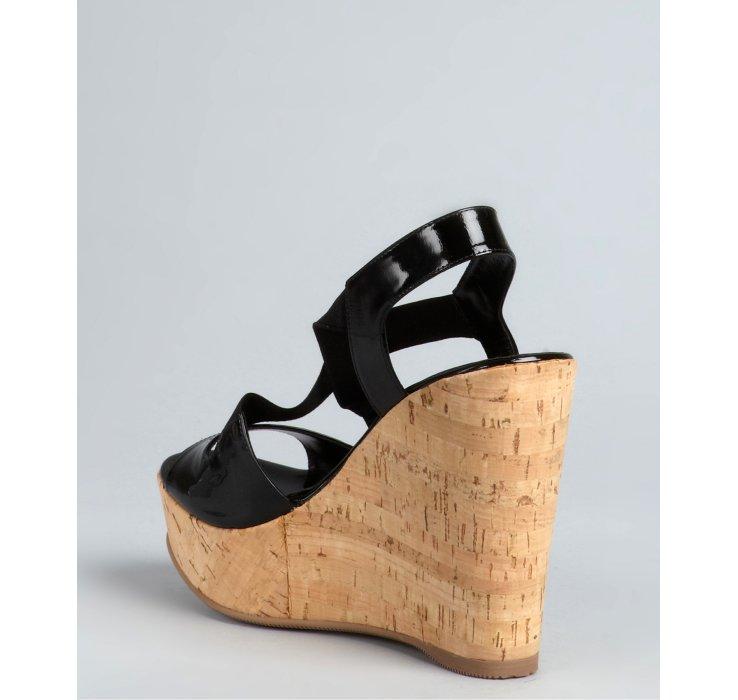 outlet online shop wholesale price cheap online Fendi Leather Peep-Toe Wedges sneakernews online LNKfW0rqv