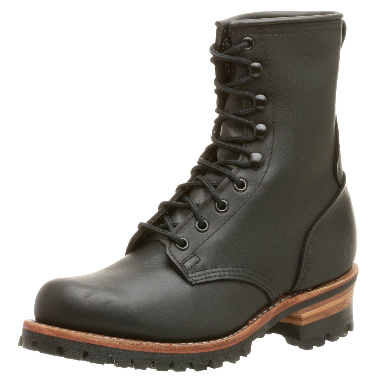 frye frye mens logger 8 g boot in black for lyst