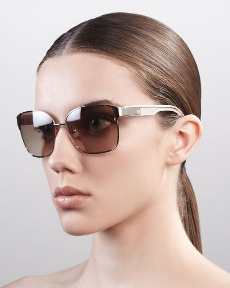 Givenchy Square Metal Sunglasses Shiny Gold in Gold (shiny gold brn) - Lyst