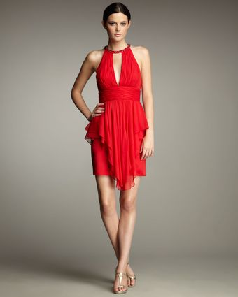 Hoaglund New York Ruffle-peplum Cocktail Dress - Lyst