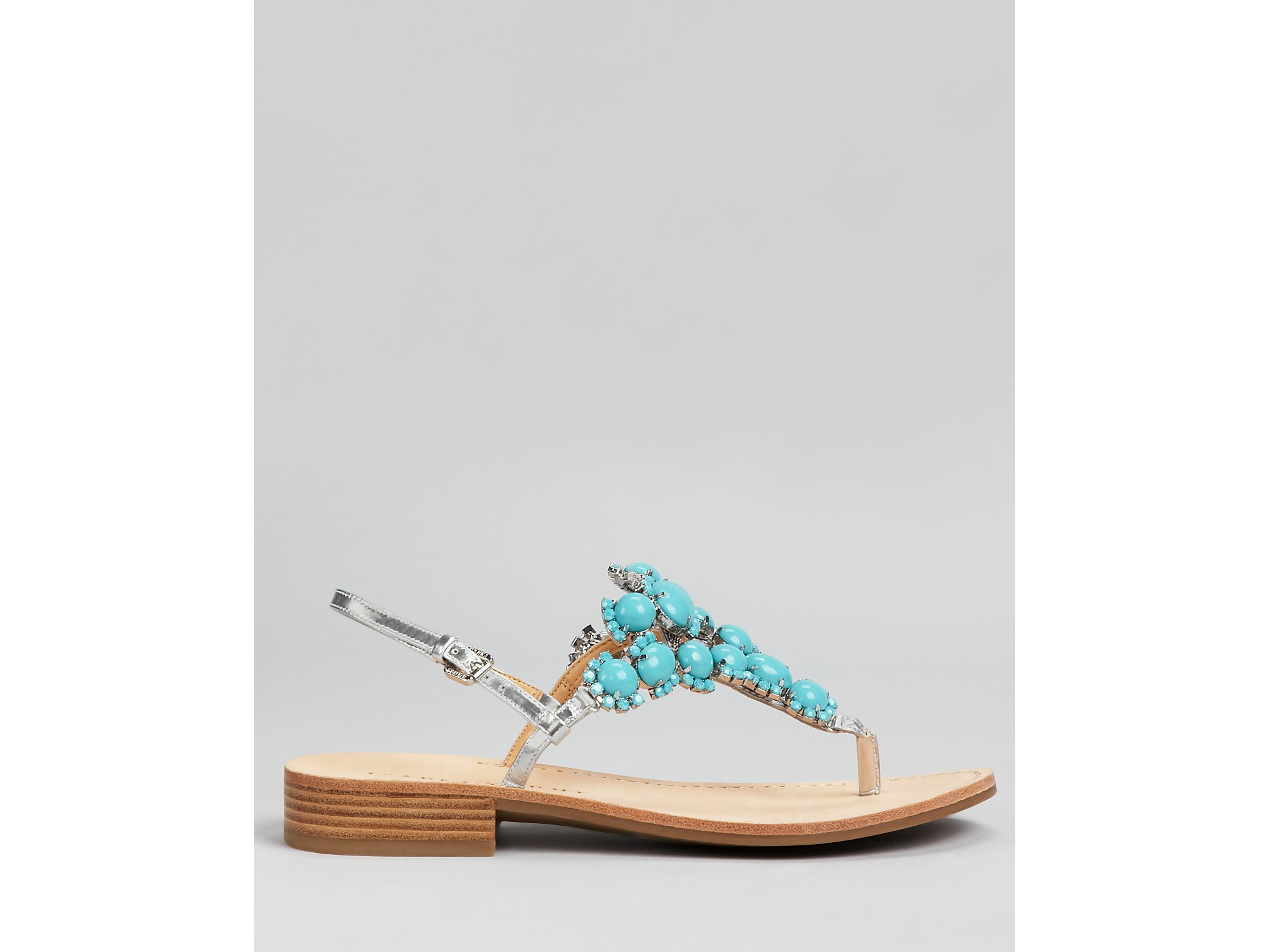 Ivanka Trump Sandals Valerie Stone In Blue Lyst