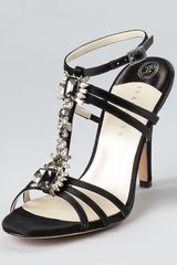 Ivanka Trump Evening Sandals Abilene Jeweled T Strap - Lyst