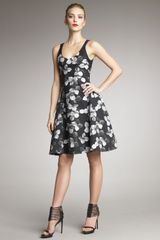 Jason Wu Floralprint Dress in Black (grey black) - Lyst