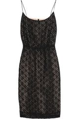 J.Crew Lace Cottonblend and Chiffon Dress - Lyst