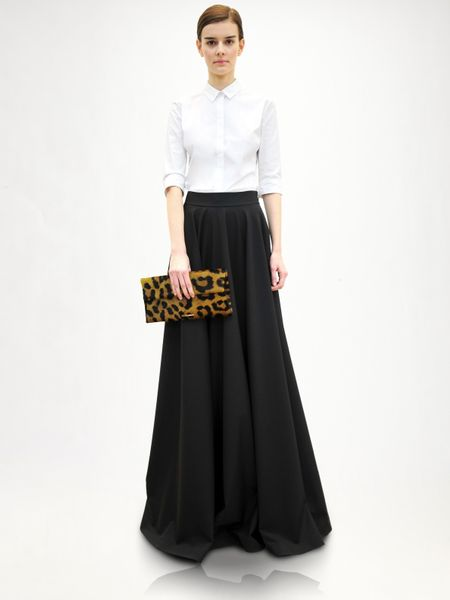 Jil Sander Wool Evening Skirt in Black - Lyst