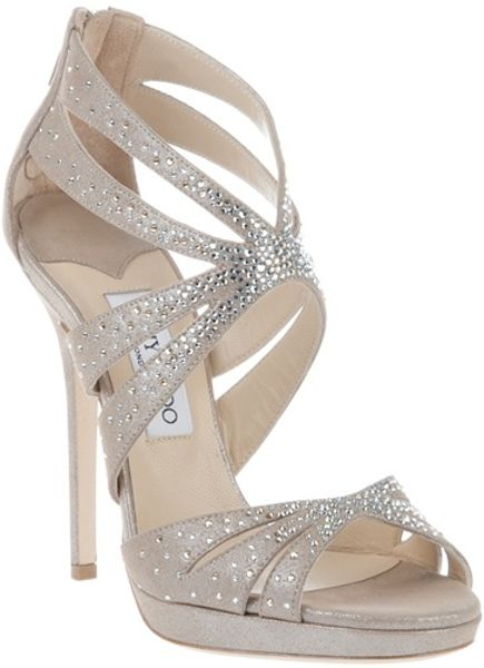 Jimmy Choo Garland Sandal in Gold (nude) - Lyst