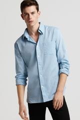 John Varvatos Star USA Roll Sleeve Shirt - Lyst
