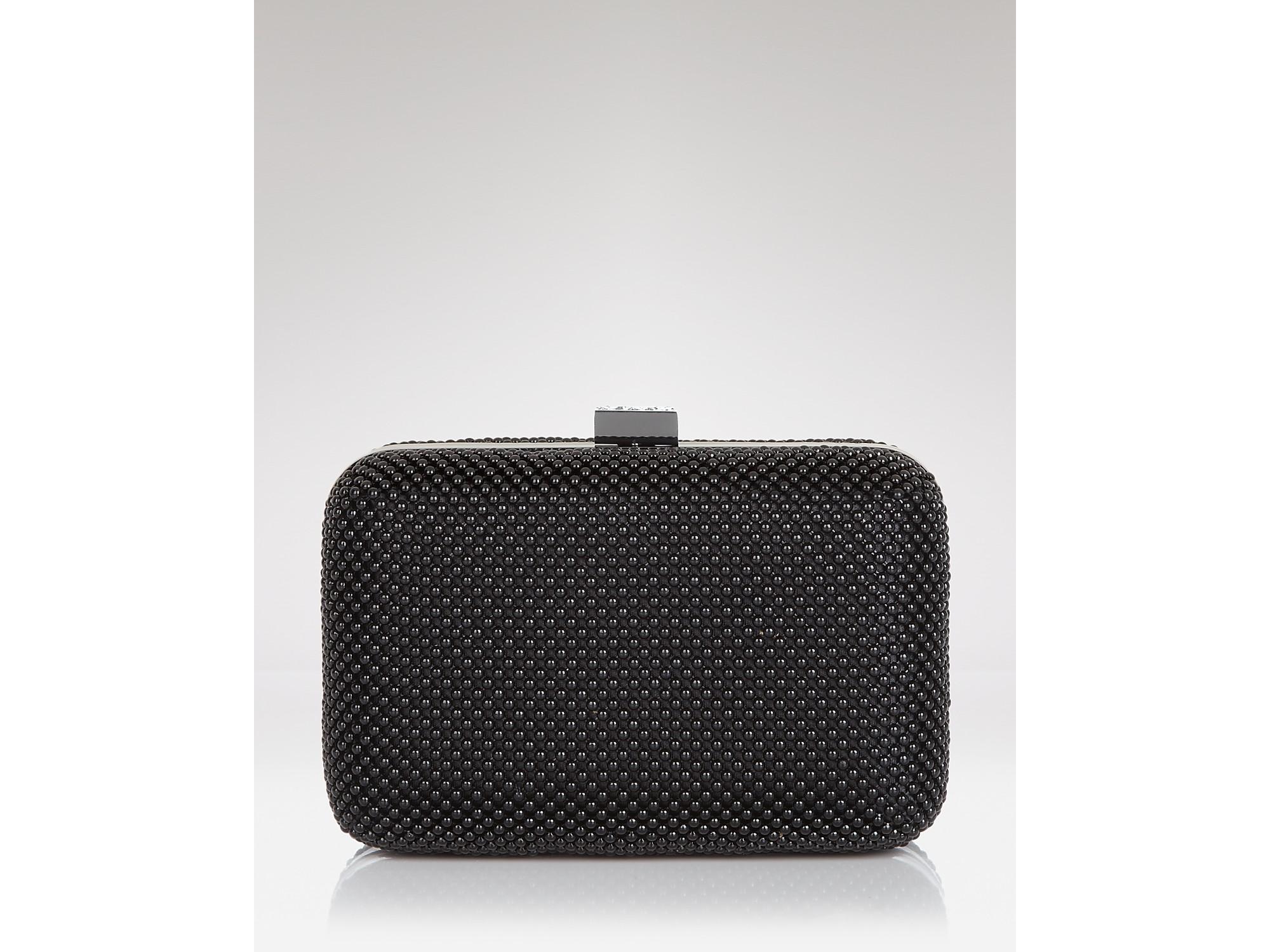 la regale clutch ball mesh box in metallic lyst. Black Bedroom Furniture Sets. Home Design Ideas