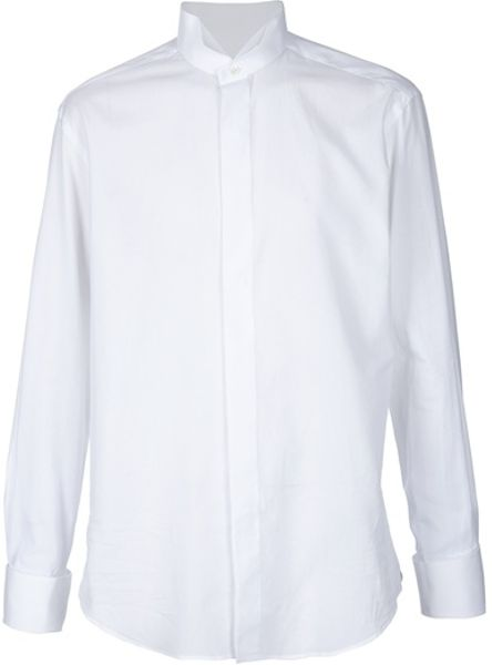 Lanvin Dress Shirt in White for Men - Lyst