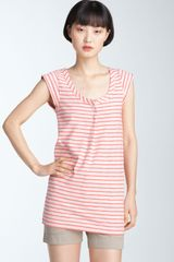 Marc By Marc Jacobs Mae Stripe Cap Sleeve Top - Lyst