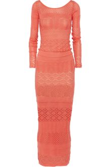 Matthew Williamson Crochet Knit Cotton Maxi Dress - Lyst