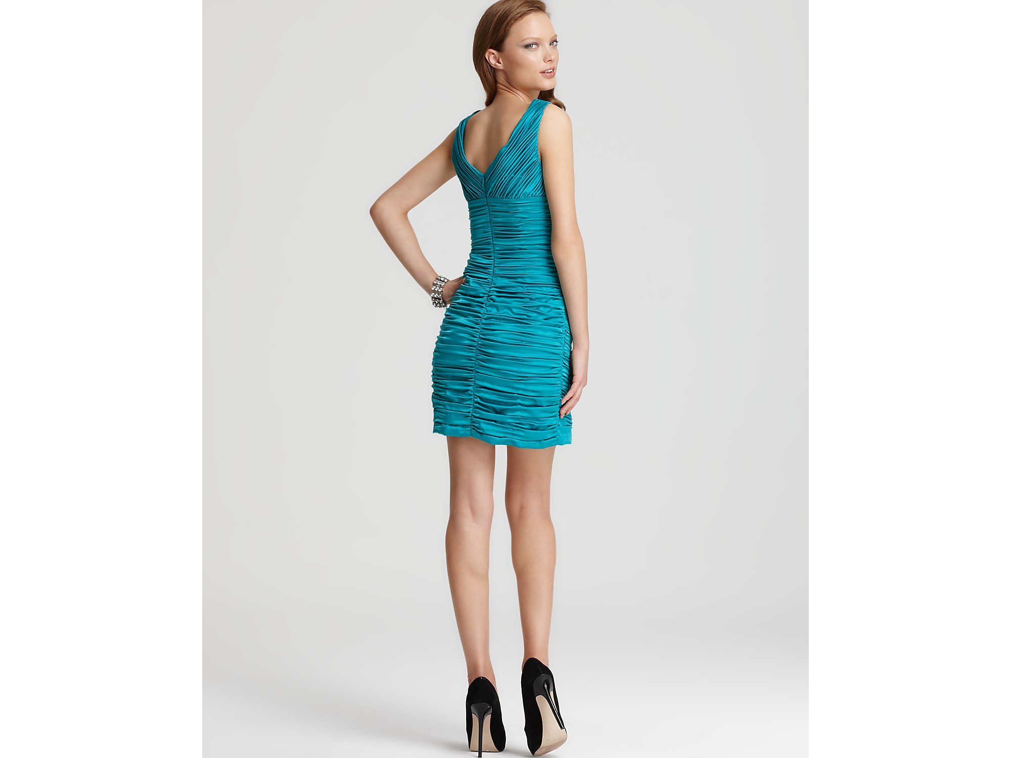 Lyst - Max & Cleo Dress Sonia Ruched in Blue