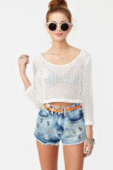 Nasty Gal Cash Flow Cutoff Shorts - Lyst
