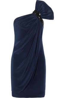 Notte By Marchesa Embellished Oneshoulder Silk Dress - Lyst