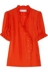 Paul & Joe Moldave Ruffled Silk Blouse - Lyst
