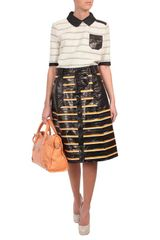 Proenza Schouler Exclusive Striped Eel Skin Aline Skirt in Black (black multi) - Lyst