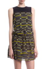Proenza Schouler Crewneck Tuck Dress - Lyst