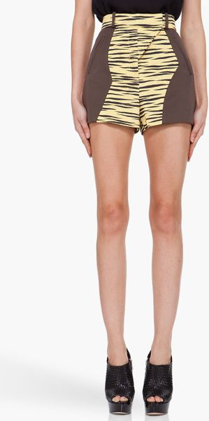 Proenza Schouler Yellow Tiger DTL Shorts in Yellow - Lyst
