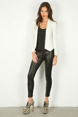 Rebecca Minkoff Becky Jacket in White - Lyst