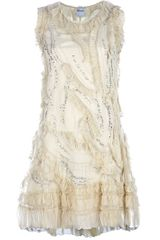 Red Valentino Embellished Dress in Beige (nude) - Lyst