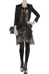 Roberto Cavalli Snake Print Silk Chiffon Dress in Gray - Lyst