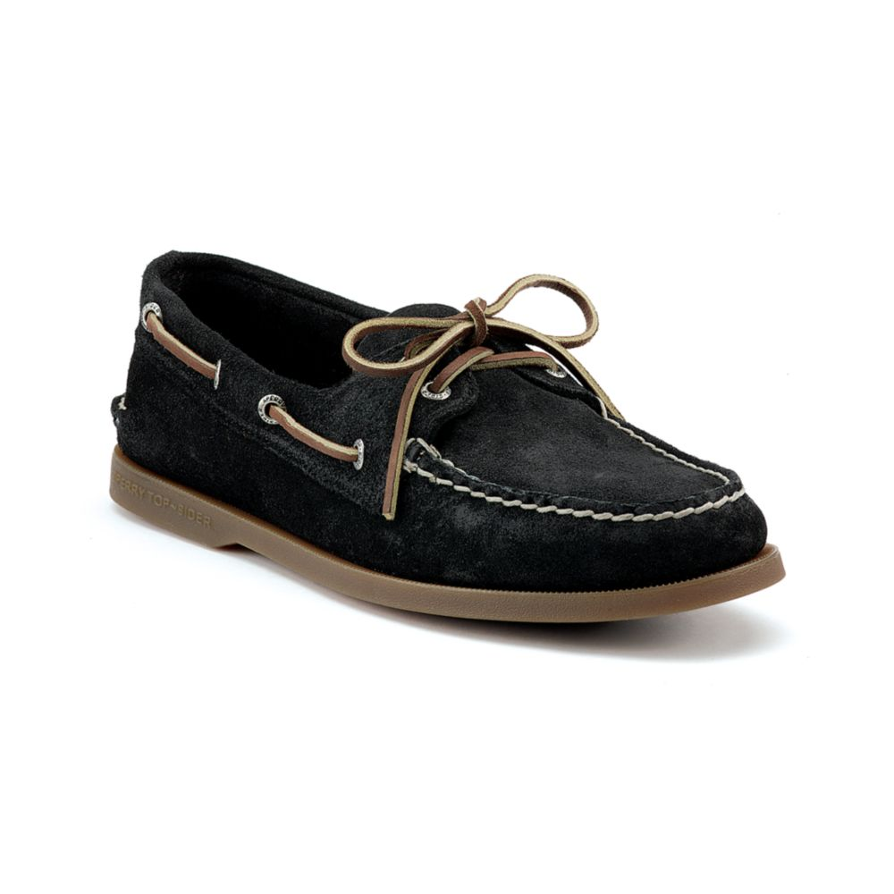 sperry top sider authentic original 2 eye suede boat shoes