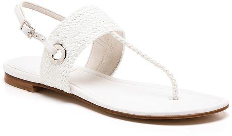 Stuart Weitzman Sandals Bimini Flat In Orange White