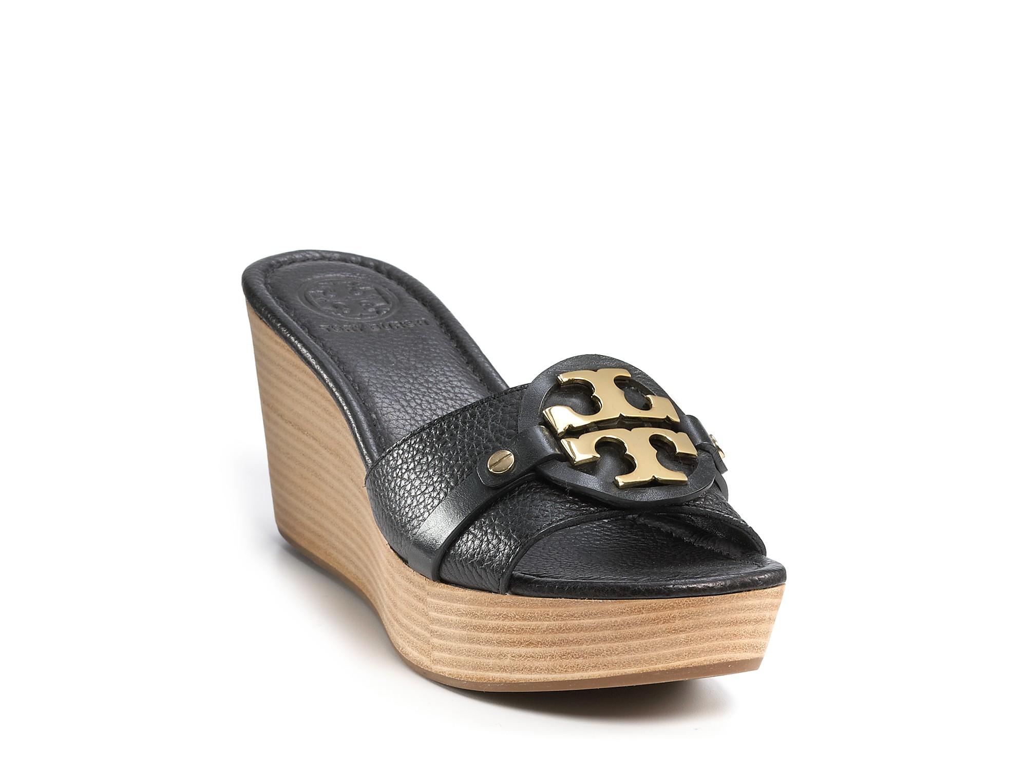 burch patti 3 wedge sandals in blue lyst