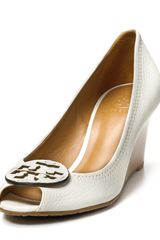 Tory Burch Wedges Sally 2 Peep Toe - Lyst