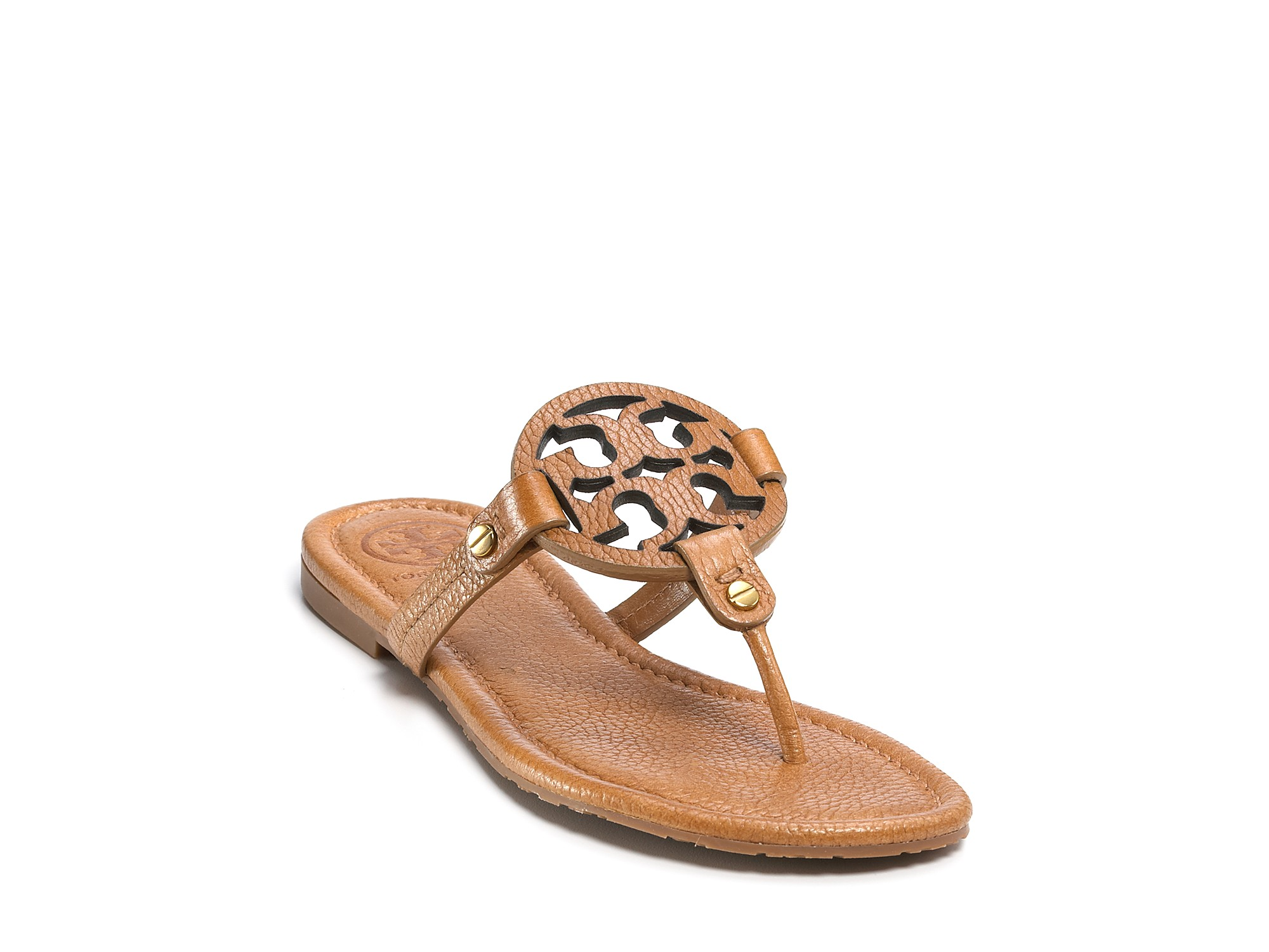 4306691c1e42 Lyst - Tory Burch Thong Sandals Miller in Natural