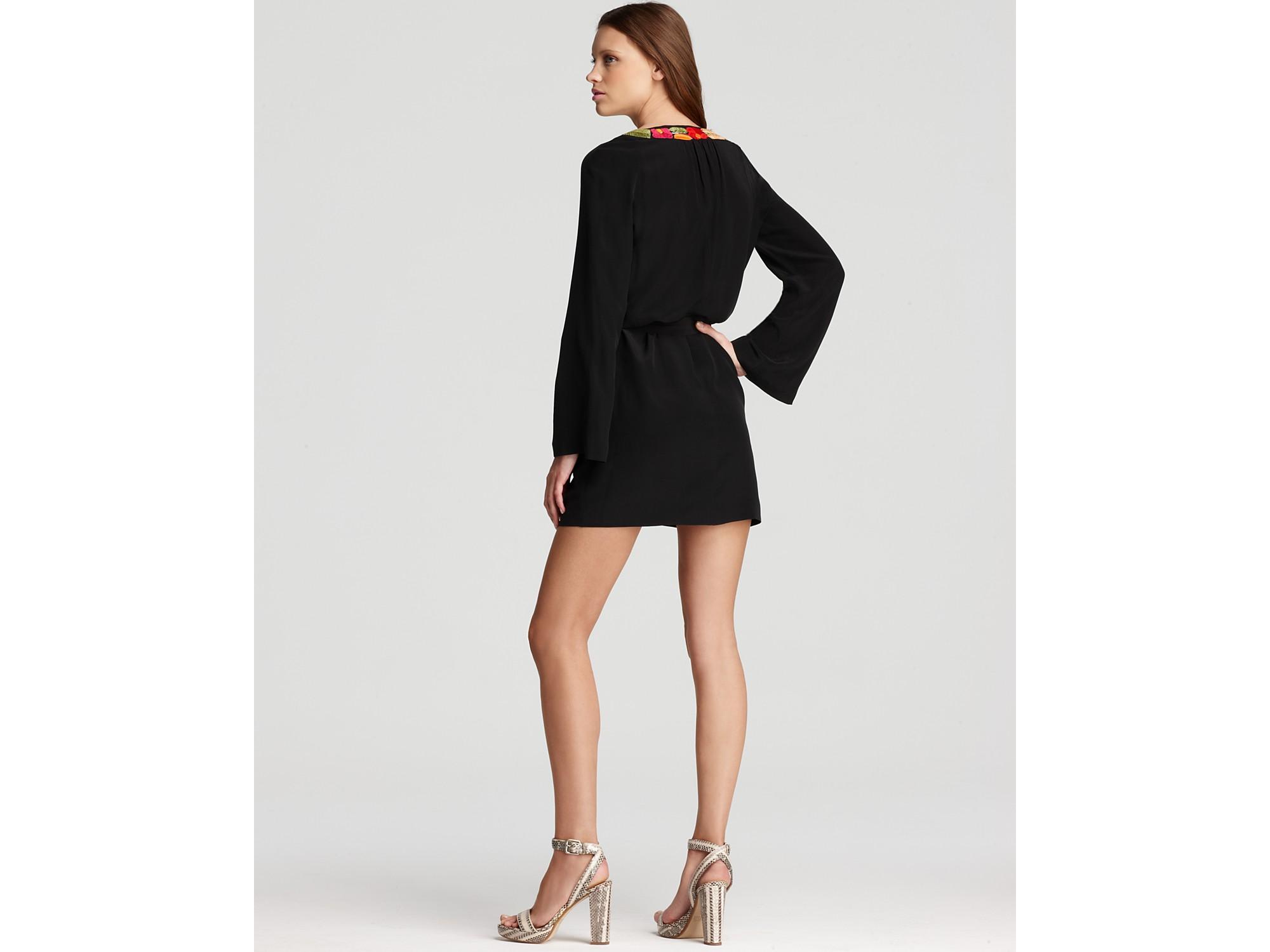 Trina turk Dress Florian Bell Sleeve in Black - Lyst