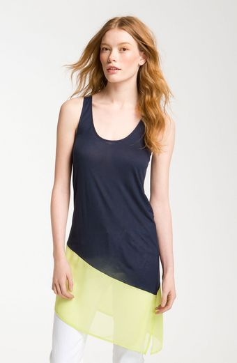 Trouvé Asymmetrical Colorblock Tunic - Lyst