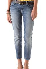 7 For All Mankind Roxanne Cropped Skinny Jeans - Lyst