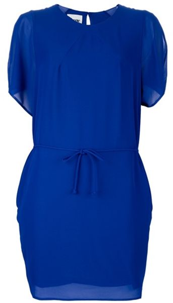 Acne Moreau Dress in Blue - Lyst