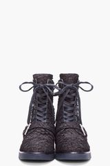 Alexander Wang Black Daria Buckle Combat Boots in Black - Lyst