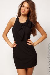 ASOS Collection Asos Petite Exclusive Dress with Gathered Front and Mesh Back